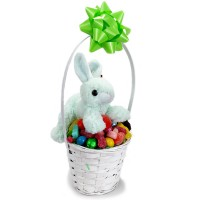 Small Basket Filled with Plush Bunny - 3520P