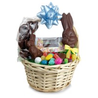 Wicker Basket with Filled Chocolate Egg - 3879