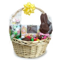 """""""Large"""" Basket with Filled Chocolate Egg - 5649"""