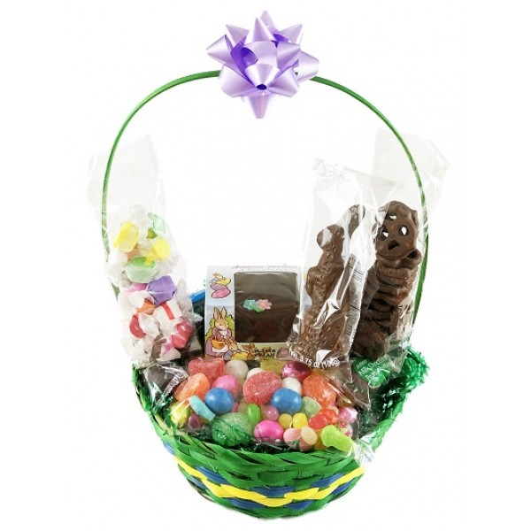 Large Multi-Color Basket with Chocolate - 5675