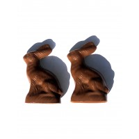 Two 1.5 oz Sitting Easter Bunny - 5206
