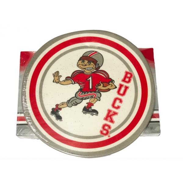 OSU Retro plate w/ 24 pc. OSU Buckeye