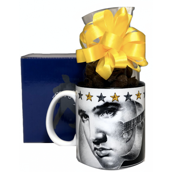 Elvis Presley Mug w/ Chocolate Covered Peanuts - 3519