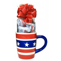 Stars and Stripes Mug w/ 8 Buckeyes - 3525