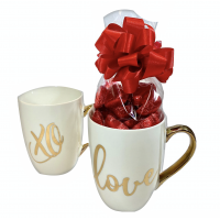 Valentine Mug with Foiled Hearts - 3505