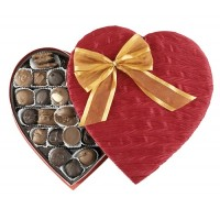 Elegant Heart with 14 oz. of Assorted Chocolates - 3278