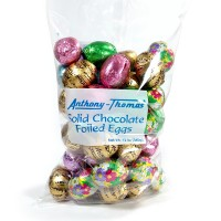 12 oz Solid Chocolate Foiled Eggs - 5341