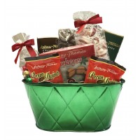 Holiday Green Oval Tin - 3845