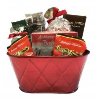 Holiday Red Oval Tin LIMITED SUPPLY - 3844