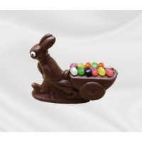 15 oz Easter Bunny Decorated with Cart  - 5235