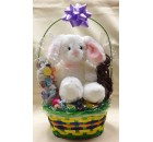 Easter Basket with Plush