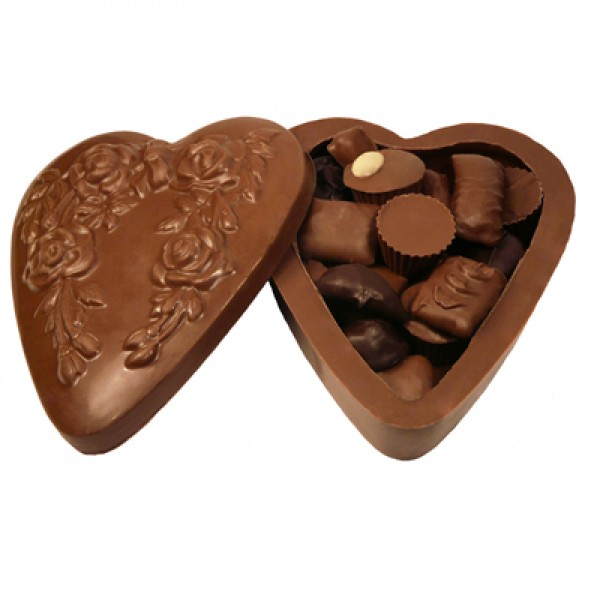 Chocolate Heart Box with Assorted Chocolates 21 oz. - 3167