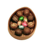Chocolate Easter Egg Dish with Truffles - 3686